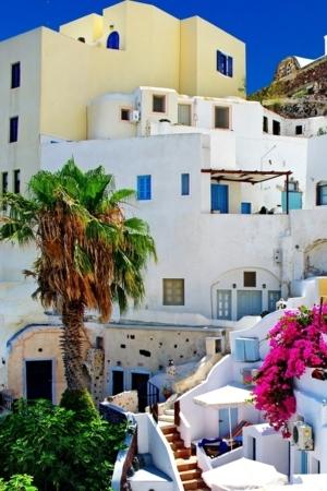 Santorini Houses Colors IPhone Wallpaper Mobile Wallpaper