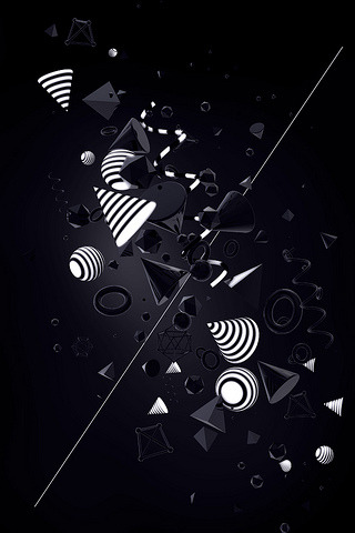 Art Shape Abstract IPhone Wallpaper Mobile Wallpaper