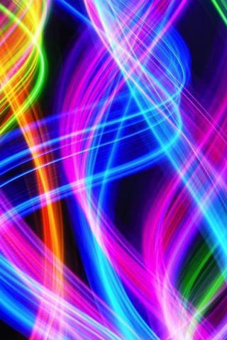 Colors Light Strands IPhone Wallpaper Mobile Wallpaper