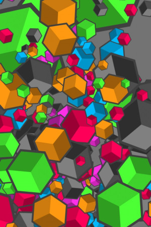 3D Colorful Cubes IPhone Wallpaper Mobile Wallpaper