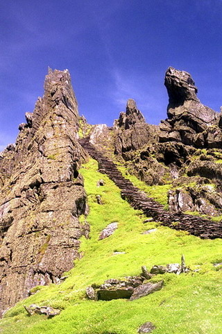 Skellig Michael Monastery Ireland IPhone Wallpaper Mobile Wallpaper