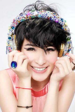 Music Girl Headphones For IPhone Wallpaper Mobile Wallpaper