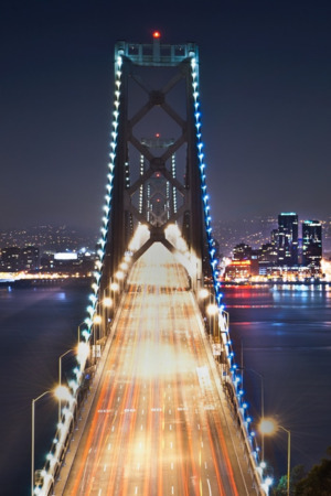 San Francisco Night Bridge IPhone Wallpaper Mobile Wallpaper