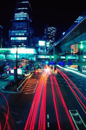 Roads Neon Night IPhone Wallpaper Mobile Wallpaper