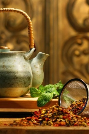 Teapot And Fall IPhone Wallpaper Mobile Wallpaper