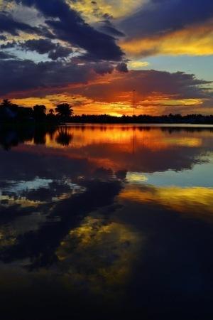 Lake Sunset Reflection IPhone Wallpaper Mobile Wallpaper