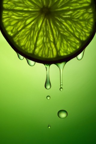 Green Natural Lime Juice IPhone Wallpaper Mobile Wallpaper