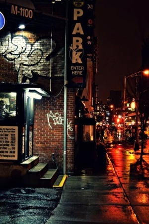Street Night View Corner IPhone Wallpaper Mobile Wallpaper