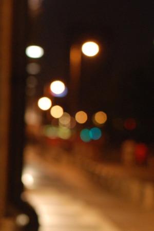 Night Street Color Lights IPhone Wallpaper Mobile Wallpaper