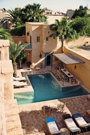 House Morocco Pool IPhone Wallpaper Mobile Wallpaper