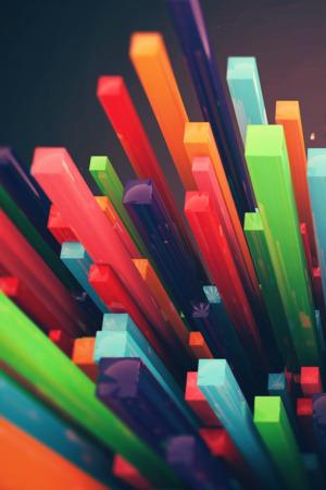 Download 3D Bars Colors IPhone Wallpaper Mobile Wallpaper ...