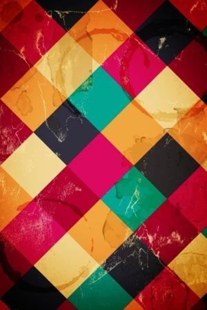 Color Plaid Boxes IPhone Wallpaper Mobile Wallpaper
