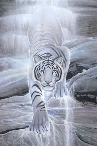 Water Spirit Tiger IPhone Wallpaper Mobile Wallpaper