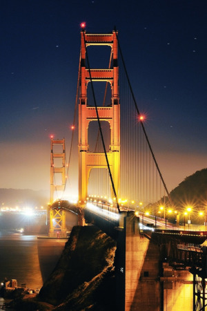 Golden Gate At Night IPhone Wallpaper Mobile Wallpaper