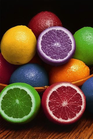 Fresh Rainbow Citrus IPhone Wallpaper Mobile Wallpaper