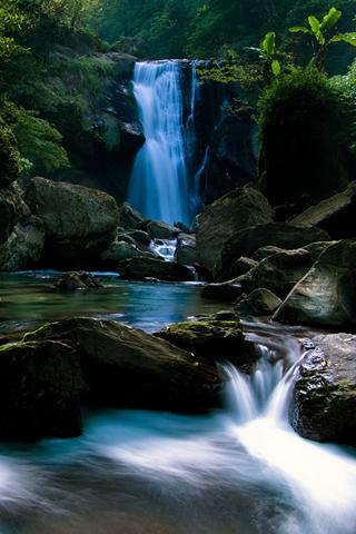 Waterfalls Blue Nature IPhone Wallpaper Mobile Wallpaper