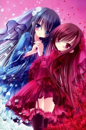 Cute Red & Blue Anime IPhone Wallpaper Mobile Wallpaper