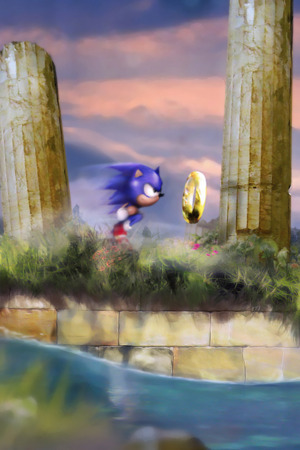 Sonic Fast Runing IPhone Wallpaper Mobile Wallpaper