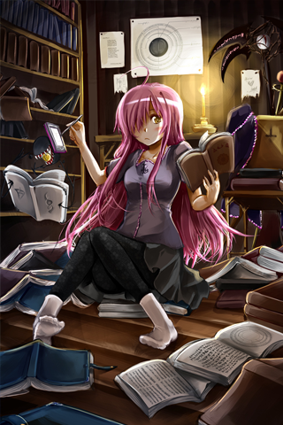 Anime Studying In Room IPhone Wallpaper Mobile Wallpaper