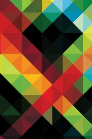 Mosaic Colors 3D Art IPhone Wallpaper Mobile Wallpaper
