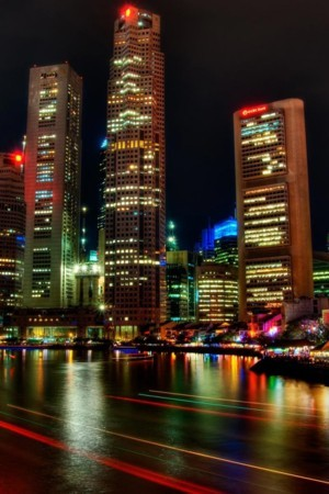 Singapore Night City IPhone Wallpaper Mobile Wallpaper