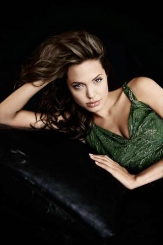 Angelina Jolie Sleepy Style IPhone Wallpaper Mobile Wallpaper