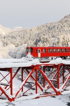Winter Japan Railways IPhone Wallpaper Mobile Wallpaper