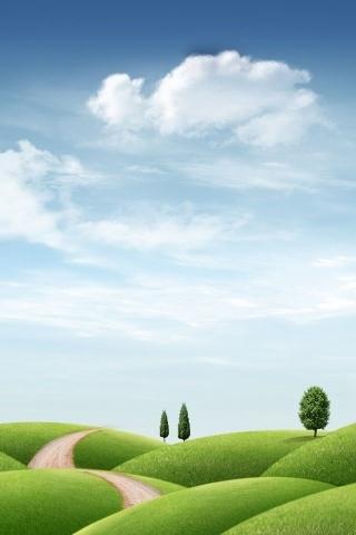 Fresh Field World IPhone Wallpaper Mobile Wallpaper