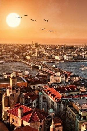 NiceView City Sunrise IPhone Wallpaper Mobile Wallpaper