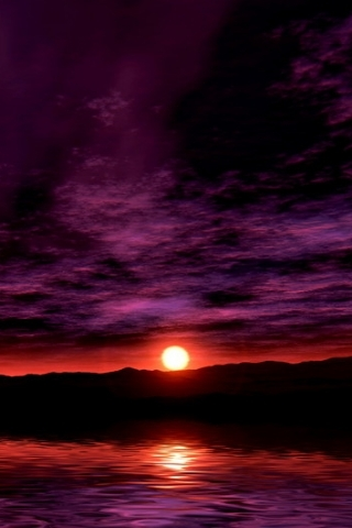 Night Sunset Purple Nature IPhone Wallpaper Mobile Wallpaper