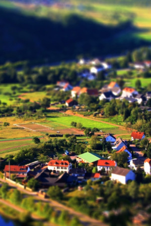 Beautiful Village Tilt Shift Android Wallpaper Mobile Wallpaper