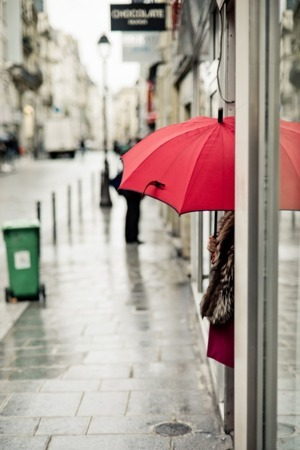 Corner Girl Red Umbrella IPhone Wallpaper Mobile Wallpaper