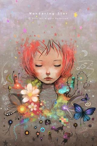 3D Butterfly Girl & Stars IPhone Wallpaper Mobile Wallpaper