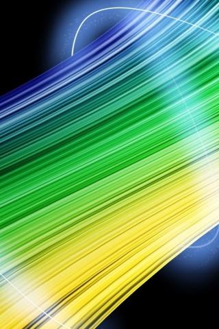 Colors Lines 3D IPhone Wallpaper Mobile Wallpaper