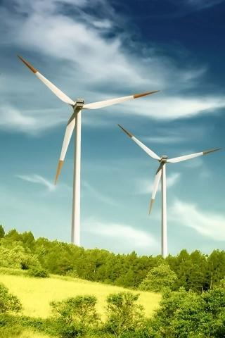Windmills On Landscape IPhone Wallpaper Mobile Wallpaper