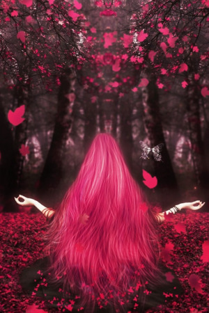 Pink Hairs Girl & Autumn IPhone Wallpaper Mobile Wallpaper