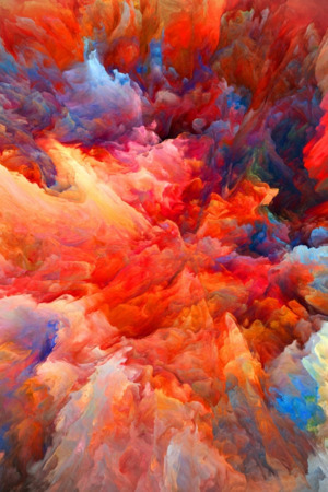 Explosion Of Colors Art IPhone Wallpaper Mobile Wallpaper