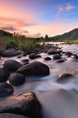 Tranquility Flow River IPhone Wallpaper Mobile Wallpaper