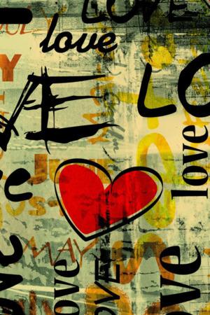 Love In Graffiti Art IPhone Wallpaper Mobile Wallpaper