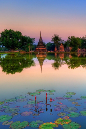 Sukhothai Historical Park Thailand IPhone Wallpaper Mobile Wallpaper