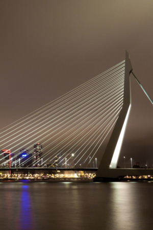 Erasmus Bridge Rotterdam In Netherlands IPhone Wallpaper Mobile Wallpaper