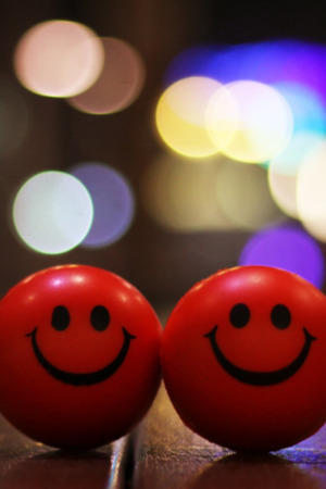 Happy Smiley Red IPhone Wallpaper Mobile Wallpaper