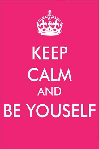 Keep Calm & Be Youself IPhone Wallpaper Mobile Wallpaper
