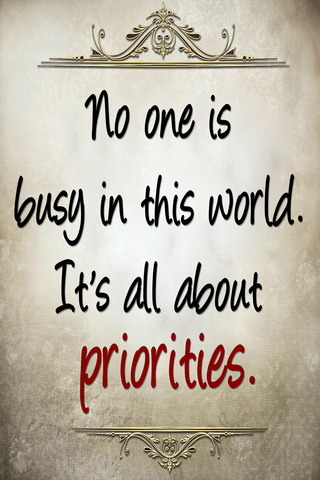 Priorities IPhone Wallpaper Mobile Wallpaper