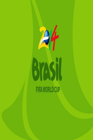 Green Fifa World Cup Brasil 2014 IPhone Wallpaper Mobile Wallpaper