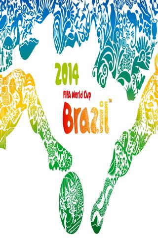 Colors Cute Fifa World Cup Brasil IPhone Wallpaper Mobile Wallpaper