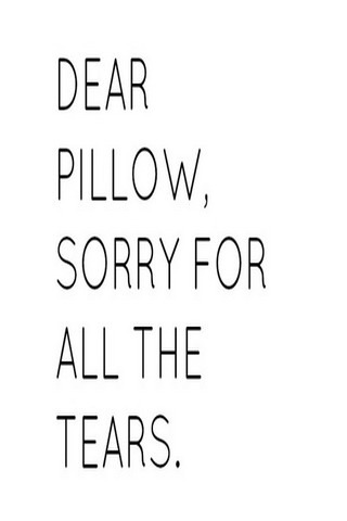 Dear Pillow Sorry For Tears IPhone Wallpaper Mobile Wallpaper