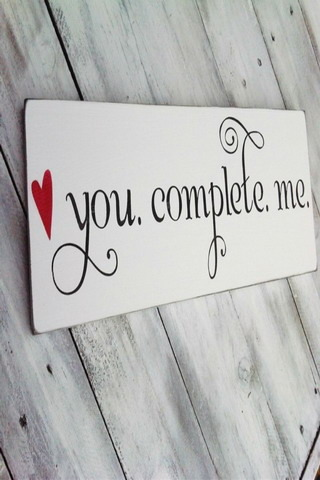 You Complete Me For Android Wallpaper Mobile Wallpaper