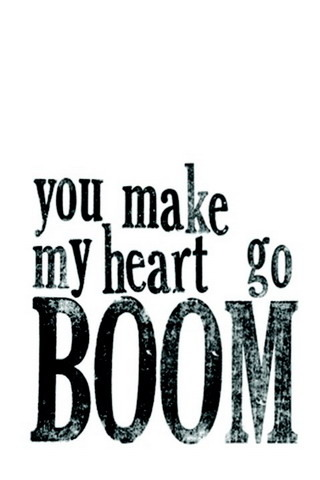 You Make My Heart Boom IPhone Wallpaper Mobile Wallpaper