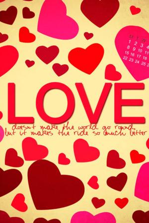 Hearts Of Love IPhone Wallpaper Mobile Wallpaper